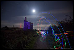 Unyfication (Light Painted Cornwall) Tags: world light cloud moon house lightpainting david heritage history abandoned tristan night clouds painting tin four site mine long exposure paint cornwall flat painted great engine trails mining led copper streaks derelict floodlight floodlit lanes cornish status lode redruth wheal wands barratt lightpaint lightpainted lanner uny carnkie wwwlightpaintedcornwallcom