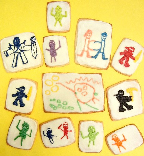 kid art sugar cookies