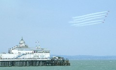 """Red Arrows over the Pier • <a style=""""font-size:0.8em;"""" href=""""http://www.flickr.com/photos/59278968@N07/6325037879/"""" target=""""_blank"""">View on Flickr</a>"""