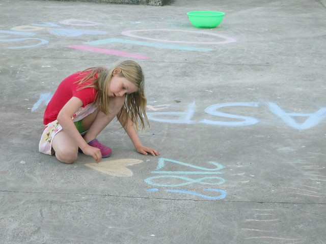 chalking with Mollie