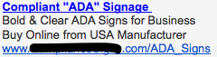 Ad #1 - ADA Signs