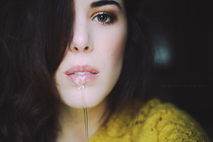 (Lucia Rubio) Tags: white selfportrait eye water yellow mouth pure womanportrait luciarubio