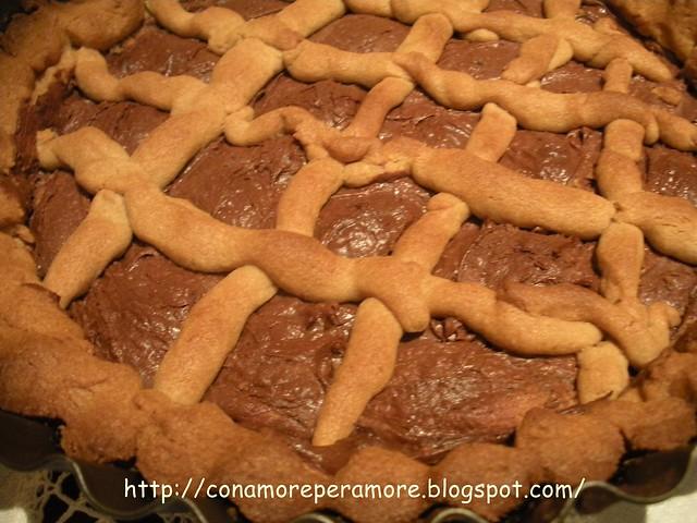 Crostata con frolla di farina castagne e nutella1