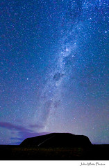 Australia - explore (john white photos) Tags: sky stars central australia outback uluru northernterritory ayersrock milkyway