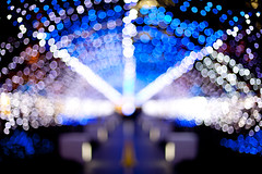 HBW with Time Traveling Tunnel! *explored* (Apricot Cafe) Tags: japan f14 mtg canonef50mmf14usm illimunation chiba千葉 nightscene夜景 kaihinmakuhari海浜幕張 img524245 makuharitechnogarden幕張テクノ・ガーデン