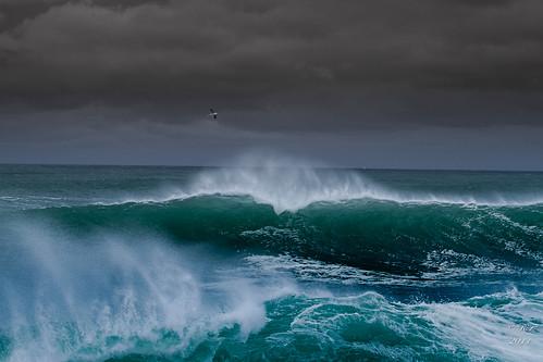 無料写真素材, 自然風景, 海, 暗雲, 波, 風景  フランス