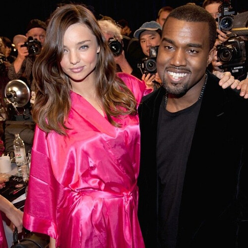 Photo of Miranda Kerr & her friend musician  Kanye West - Longtime