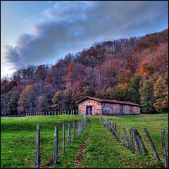 cabaña - bosque de ucieda - saja - cantabria (michel h2) Tags: españa tree spain arboles valle olympus bosque otoño michel h2 hdr casona cantabria cabaña saja e500 ucieda