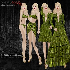 DNR Summer Donna Square Posters Green (designingnickyree) Tags: bikini dresses gowns sarongskirt nickyree slfashion resortfashion