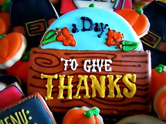 A day to give thanks (Flying Pig Party Productions) Tags: thanksgiving cookie
