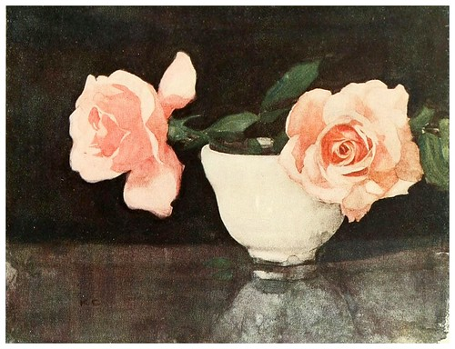 017-Rosas en un bol Satsuma-The flowers I love 1917- Katharine Cameron
