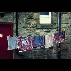 Tea Towels (Mr sAg) Tags: north laundry northern washing mundane sag westyorkshire washingline teatowels keighley simonharrison mrsag