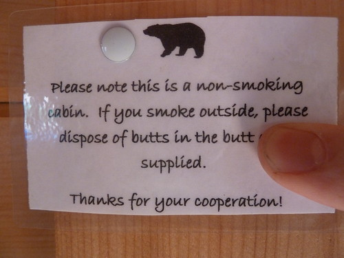 Please dispose of butts in the butt