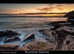 Summers Coming (John_Armytage) Tags: clouds sunrise movement fisherman rocks wave australia nsw 5d northernbeaches whalebeach leefilters canon1635lf28 canon5dmark11 johnarmytage wwwjohnarmytagephotographycom