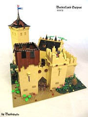 CCCIX - Borderland Outpost (vdubguy67') Tags: tree tower castle classic church saint king lego fort battle medieval queen creation monks knight trade siege outpost moc afol cccix
