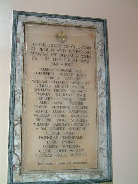 Princes St United Reform Church Memorial Plaque - Right