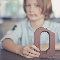 chocolate letter ({cindy}) Tags: family home sinterklaas canon square bokeh chocolate letter everydaylife saintnicholas
