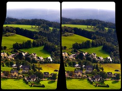 Climbing up that hill 3D :: HDR Cross-Eye Stereoscopic (Stereotron) Tags: 3d 3dphoto 3dstereo 3rddimension spatial stereo stereo3d stereophoto stereophotography stereoscopic stereoscopy stereotron threedimensional stereoview stereophotomaker stereophotograph 3dpicture 3dglasses 3dimage crosseye crosseyed crossview xview cross eye squint squinting freeview sidebyside sbs kreuzblick hyperstereo twin canon eos 550d yongnuo radio transmitter remote control sigma zoom lens 70300mm tonemapping hdr hdri raw cr2 quietearth europe germany saxony sachsen vogtland aschberg klingenthal 3dframe airtightframe fancyframe floatingwindow airtight frame spatialframe stereowindow window visualart 100v10f
