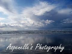 Storm On The Horizon Seaside Oregon Fine Art Photography (Aspenelle's Photo Gallery) Tags: ocean blue sunset sunlight storm reflection beach water seaside rocks waves fineart pacificnorthwest etsy beachsunset fineartphotography seasideoregon oregoncoastsunset aspenellesphotogallery aspenellesphotoetsy aspenellesphotography