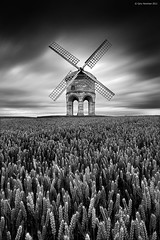 M i l l (Gary Newman) Tags: uk longexposure bw windmill field warwickshire chestertonmill heliopannd30