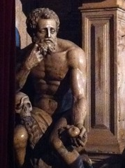 Adamo come Ercole o San Girolamo (not one of you) Tags: art public statue skull arte bologna teschio esoteric jugendstil chamunda