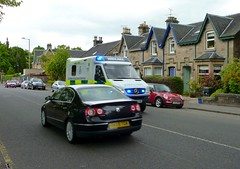 On Call (barronr) Tags: road houses car scotland stirling blues ambulance emergency twos oncall scottishambulanceservice