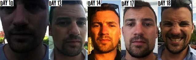 Will's face-fuzz progress (used with permission)