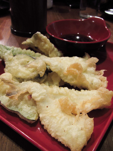 Fish and Vegetable Tempura at Crazy Katsu