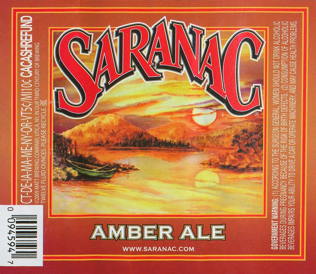 Saranac Amber Ale - F.X. Matt Brewing Company