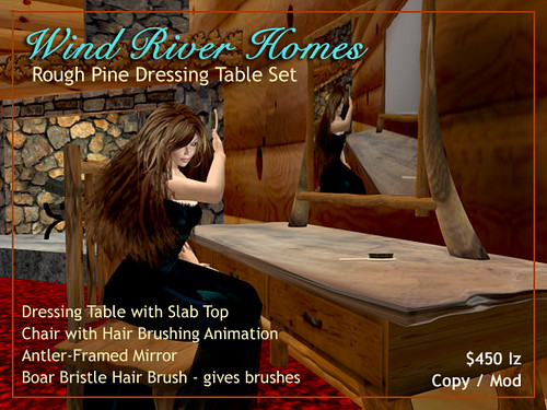 Rough Pine Dresser Set by Teal Freenote
