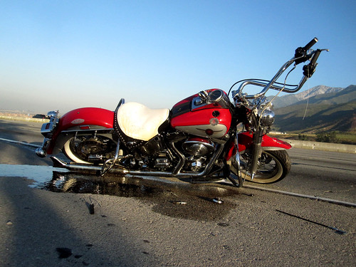 Motorcycle accident on the 15FWY - East Bound June 21, 2011
