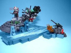 Mission 8.3 (jestin pern) Tags: fiction trooper star lego crash space smoke explosion 8 whiskey science class company mission fi wars squad clone yankee technique 83 sci aat npu gunboat infiltrator endowment ostracoda manaan colcoid