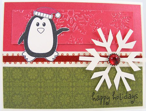 SOL October Snowflake Penguins Card