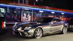 Chrome Mercedes-Benz SLR (Niels de Jong) Tags: street slr colors st night hp long exposure nightshot wrap commons explore chrome arab mclaren mercedesbenz bling sheraton supercar jumeirah 1100 brabus arabs sloane bhp explored hypercar ndjmedia
