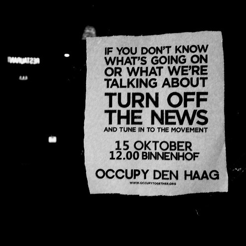 """If you don't know what's going on or what we're talking about turn off the news and tune into the movement"""