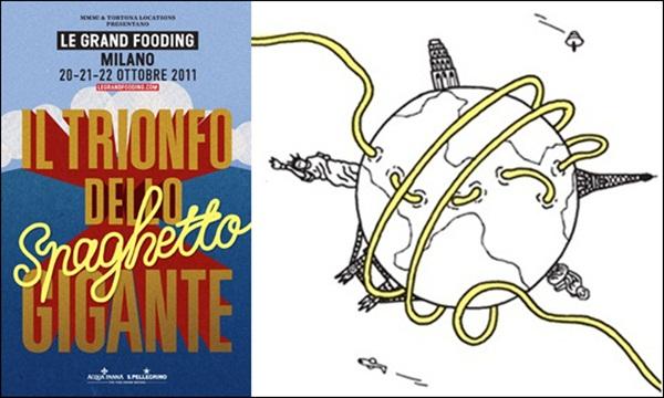 Lo spaghetto gigante - Le grand fooding Milano 2011