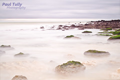 Morning Waters (PaulTully) Tags: sea sky mist seaweed beach water rock stone clouds canon kent moss tide shakespeare whitecliffs