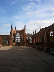Coventry Cathedral (Elentari86) Tags: england germany day cathedral unitedkingdom clear german coventry bombs destroyed bombing worldwar2 rebuilt flickrandroidapp:filter=none
