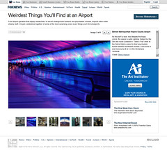 Weirdest Things You'll Find at an Airport (Steve Hopson) Tags: travel usa nikon d70 nikond70 detroit tunnel terminal walkway foxnews publicart airports psychedelic tunnels timetunnel aeroport nwa concourse dtw northwestairlines theterminal aiport detroitmetro detroitmetroairport mcnamaraterminal travelphotography travelphotos tunneloflight detroitairport psychedelicart dtwairport lighttunnel stevehopson detroitmetropolitanwaynecountyairport psychedelictunnel lighttunneldetroit mcnamaratunnel