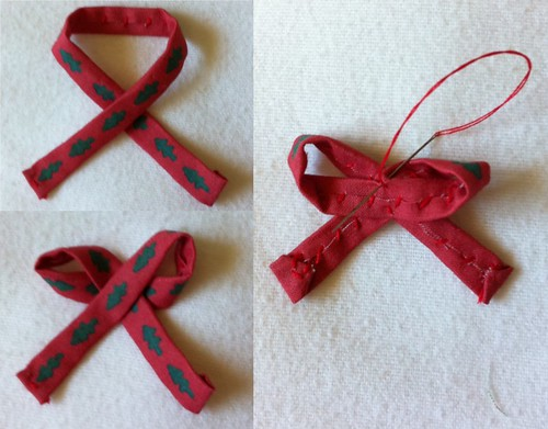 Mini Wreath Ornament construction example part 7
