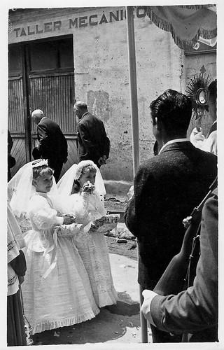 Ruth Magallon el dia del Corpus Cristi