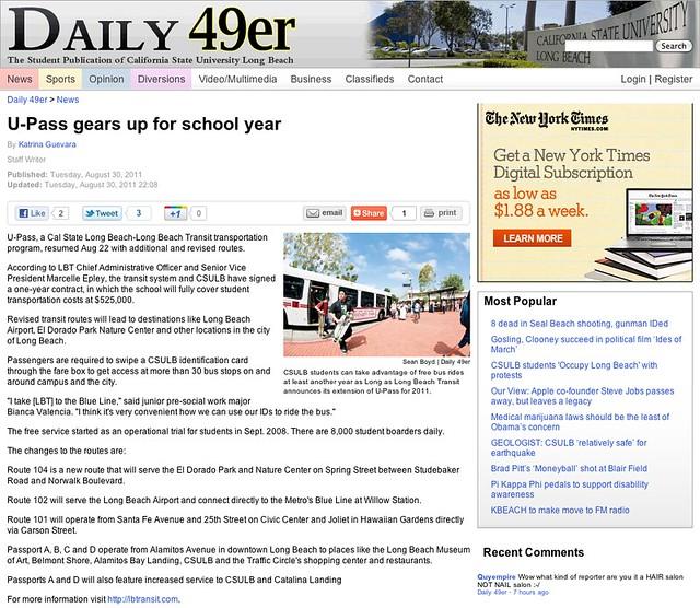 U-Pass gears up for school year - News - Daily 49er - California State University Long Beach
