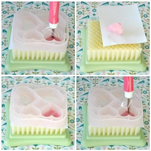 Needle felting roses steps 5-8