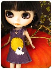 Mona in a dress halloween