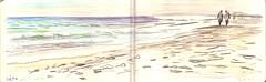 111016 Plage du Lido de Sète (34) (Vincent Desplanche) Tags: pencils sketchbook coloured croquis