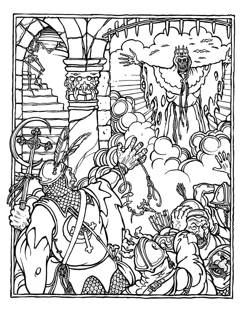 dungeons and dragons coloring pages - photo#9