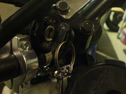 Ignition switch moved