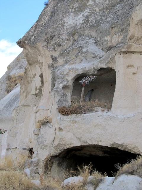 A live-in cave, Göreme, Cappadocia