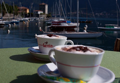 Capuchino anybody?  Belagio, Lake Como, Italy (dima barsky) Tags: italy coffee italian italia bellagio f80 lakecomo capuchino lagocomo canoneos50d aboutitaly