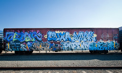 Cedar, Luxa, Bleak, Naka, Destn, Paeday, Optimist (everydaydude) Tags: california de graffiti pop cedar bleak destn eastbay optimist bmb naka ksw luxa paeday